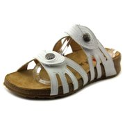 Haflinger Paris   Open Toe Leather  Slides Sandal