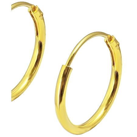 Earrings For Kids (18k Yellow Gold Plated Sterling Silver 3/8