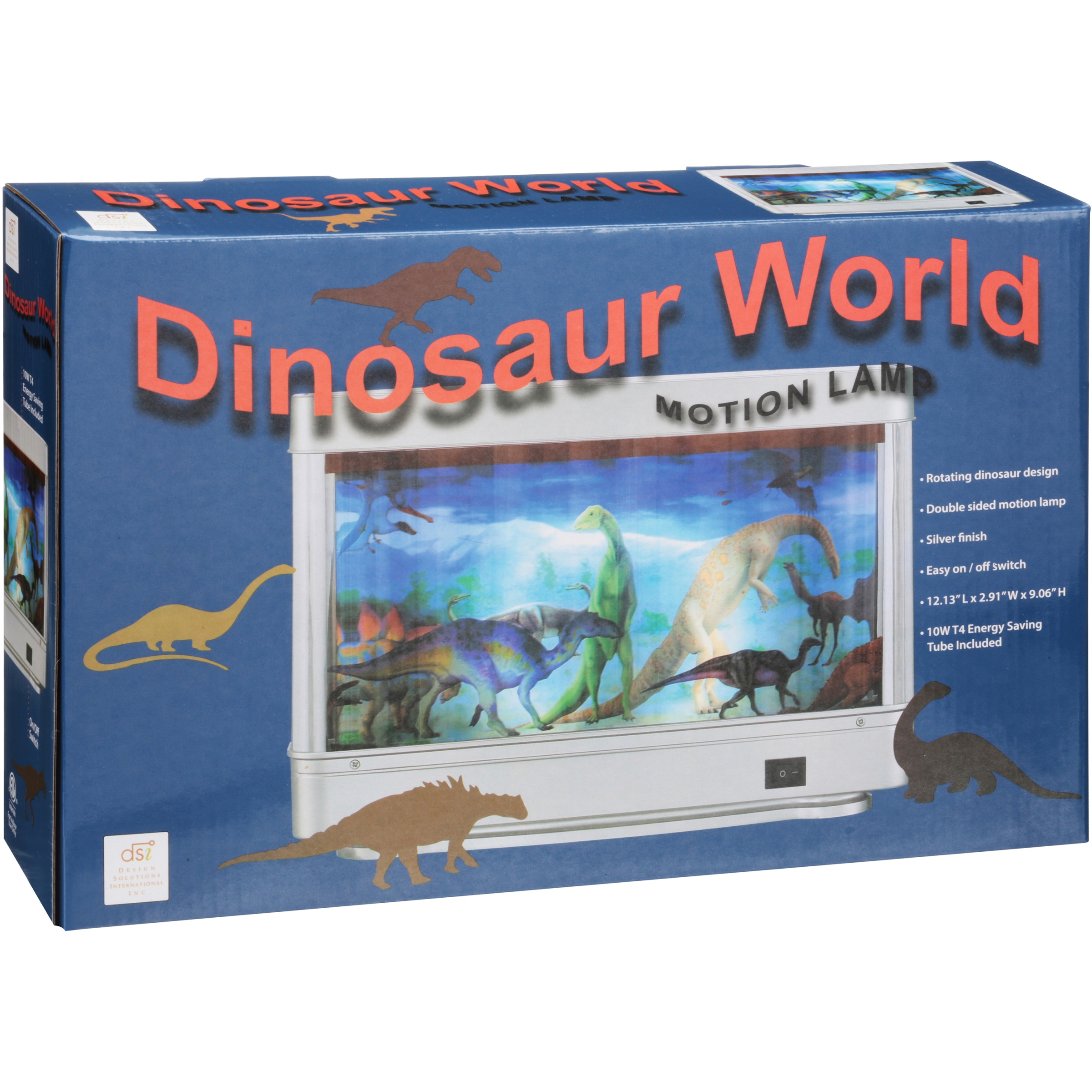 Dinosaur World Motion Lamp Portable Bedroom Lighting Nightlight Kids