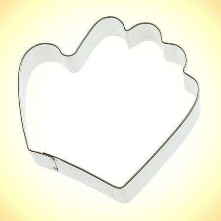 Baseball Glove Cookie Cutter 3.5 in - Foose Cookie Cutters - US Tin Plate Steel