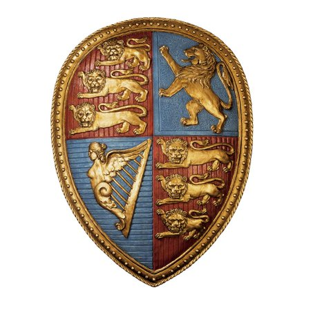 Design Toscano Queen Victoria's Royal Coat of Arms Shield