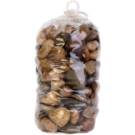 (2 Pack) Aqua Culture Aqua Large River Rock Aquarium Gravel, 48-Ounce