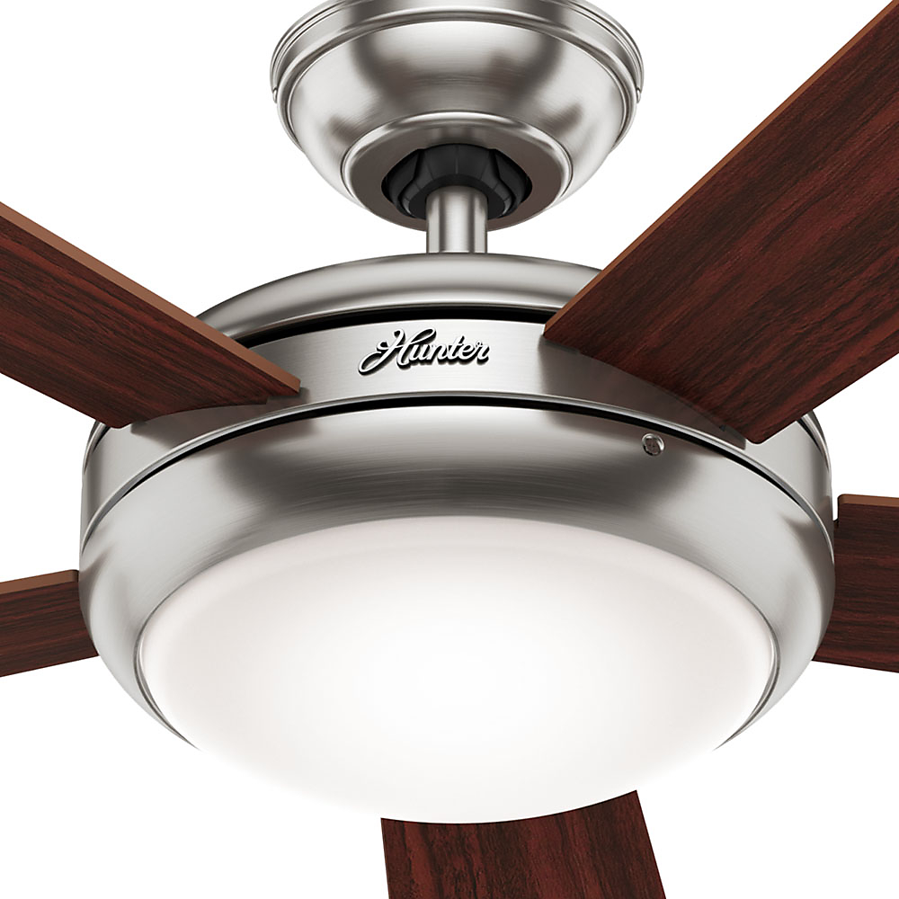 Hunter 52 palermo brushed nickel ceiling fan with light with hunter 52 palermo brushed nickel ceiling fan with light with handheld remote walmart aloadofball Gallery