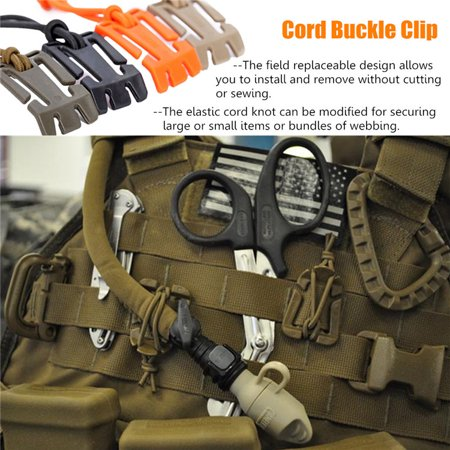 Nylon 4 Buckle (Backpack Clasp Hang webbing Buckle Nylon Webbing Straps Elastic Cord Cable Storage Roll Wire Clip)