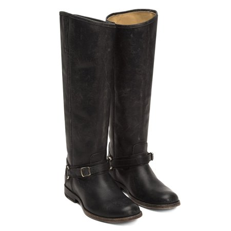 3ac480b0995 FRYE Womens Phillip Ring Tall Leather Riding Boot (Black, 8)