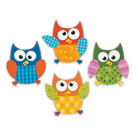 Fun Express - Bulletin Board Cutouts - Owls - Educational - Classroom Decorations - Bulletin Board Decor - 48 Pieces