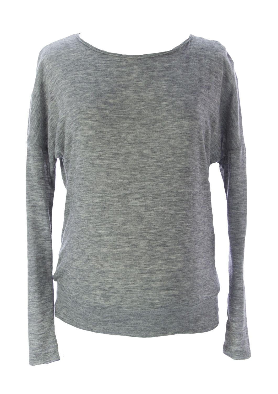 JULES & JIM Maternity Women's Lace Back Sweater Medium Grey Black by H15232