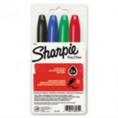 "Assorted Fine Point 4//set/"" /""Sharpie Super Permanent Markers"
