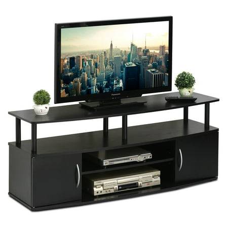 Furinno JAYA Large Entertainment Center Hold up to 50