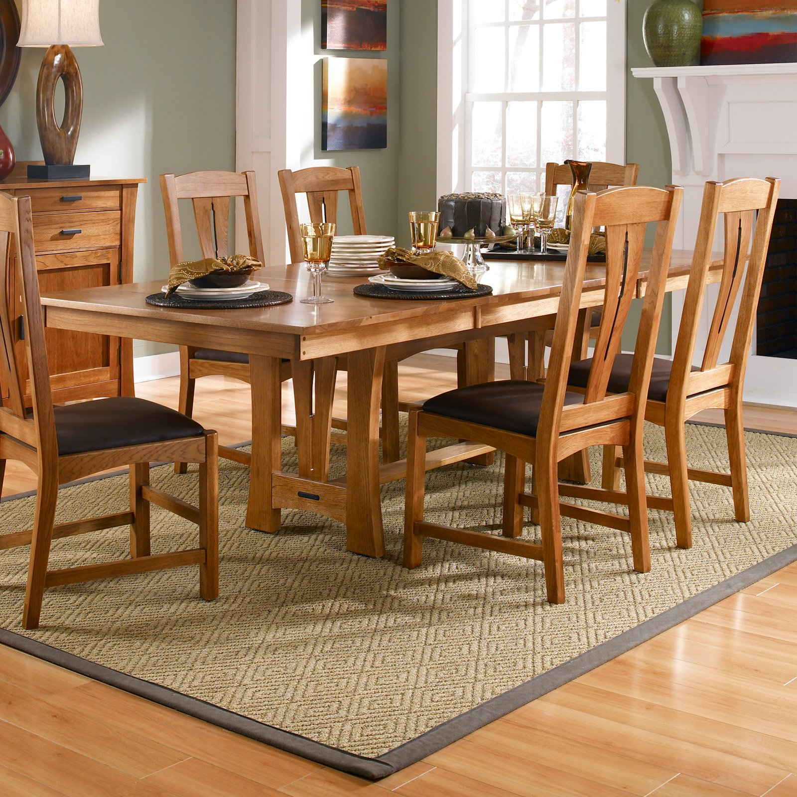 A-America Cattail Bungalow Trestle Dining Table