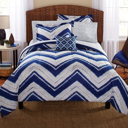 Mainstays Mosby Chevron Bed In A Bag Complete Bedding Set