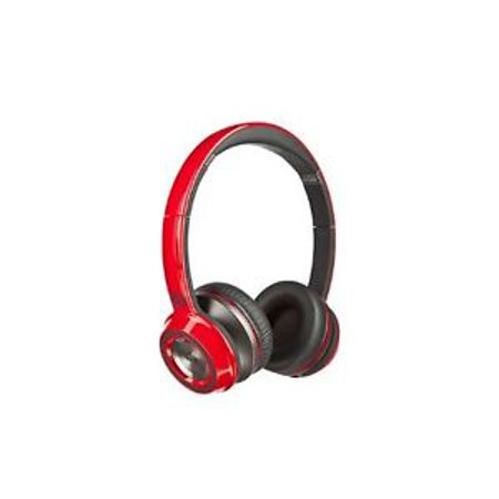Cherry Headphone - Monster NCredible Ntune High Performance On-ear Headphones (Cherry Red) Bundle with Polishing Cloth