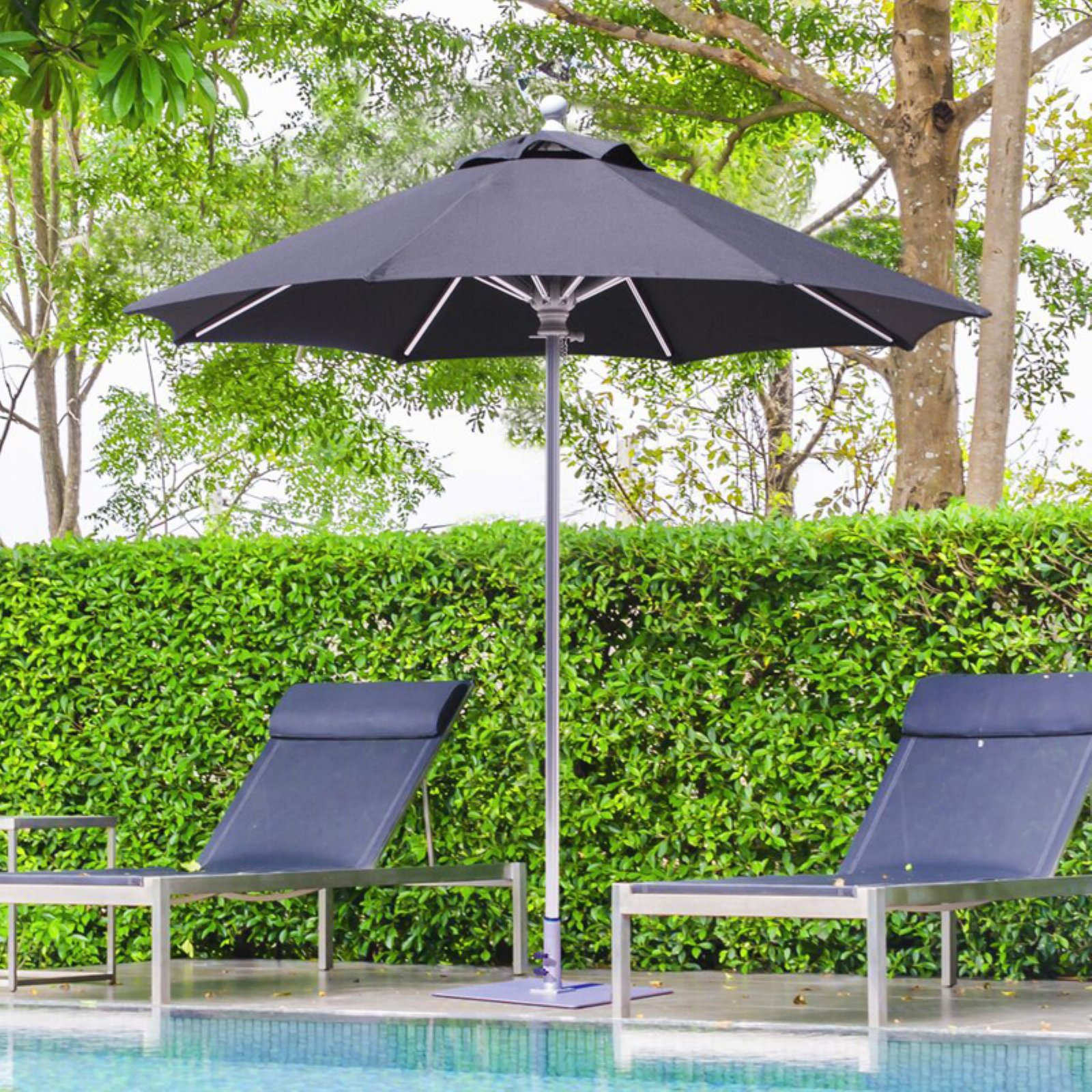 Galtech 7.5 ft. Commercial Deluxe Suncrylic Aluminum Market Umbrella