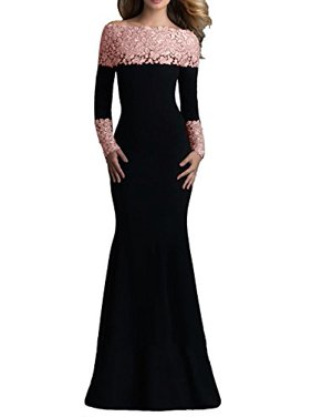 7a5aec79c5 Product Image made2envy Boat Neck Mermaid Lace Decorated Evening Gown (XL