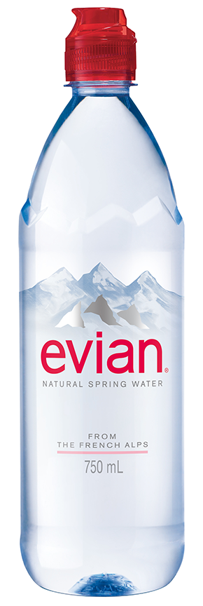 Evian Natural Spring Water, 25.3 Fl Oz, 12-Pack by Danone Waters of America