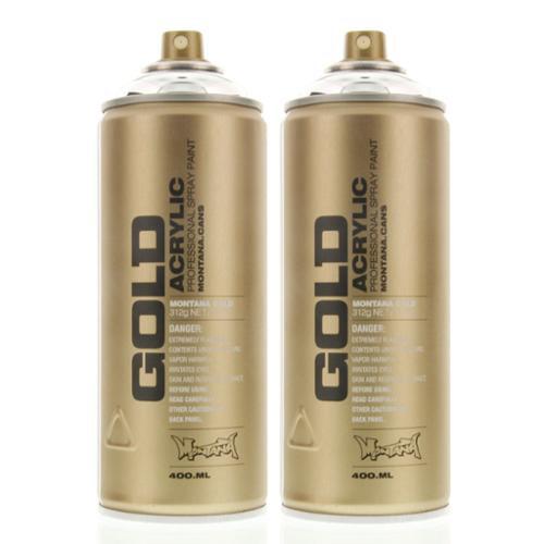 Montana Gold Acrylic Spray Paint Silverchrome M1000 - Urban Art - 2 CANS
