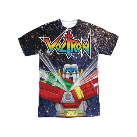 Voltron Animated TV Show Voltron Space Defender Adult Front Print T-Shirt - Adult Space