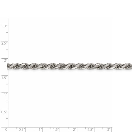 925 Sterling Silver 4.75mm Diamond-cut Rope Chain 20 Inch - image 4 of 5