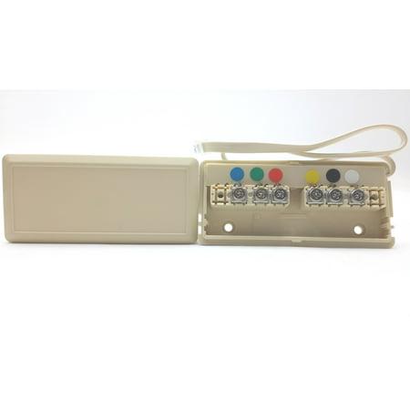 Leviton Telephone Wire Junction Box 6-Wire Ivory C2618-I - Walmart.com