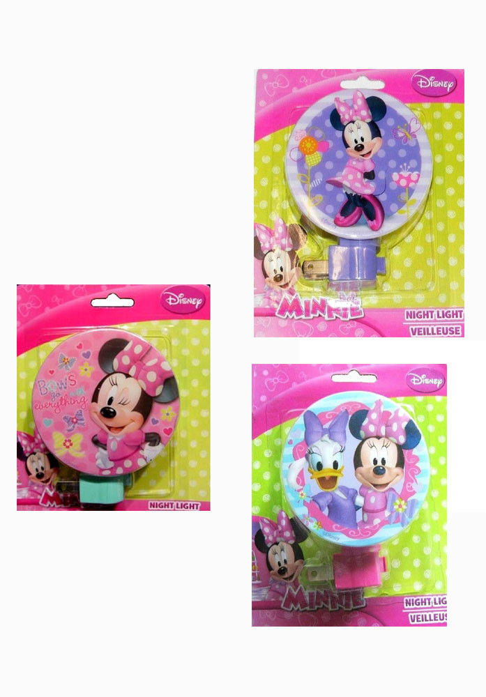 Disney Minnie Mouse Girls Decorative Nursery Hallway Room Bath Night Light Lamp (Style May Vary) by