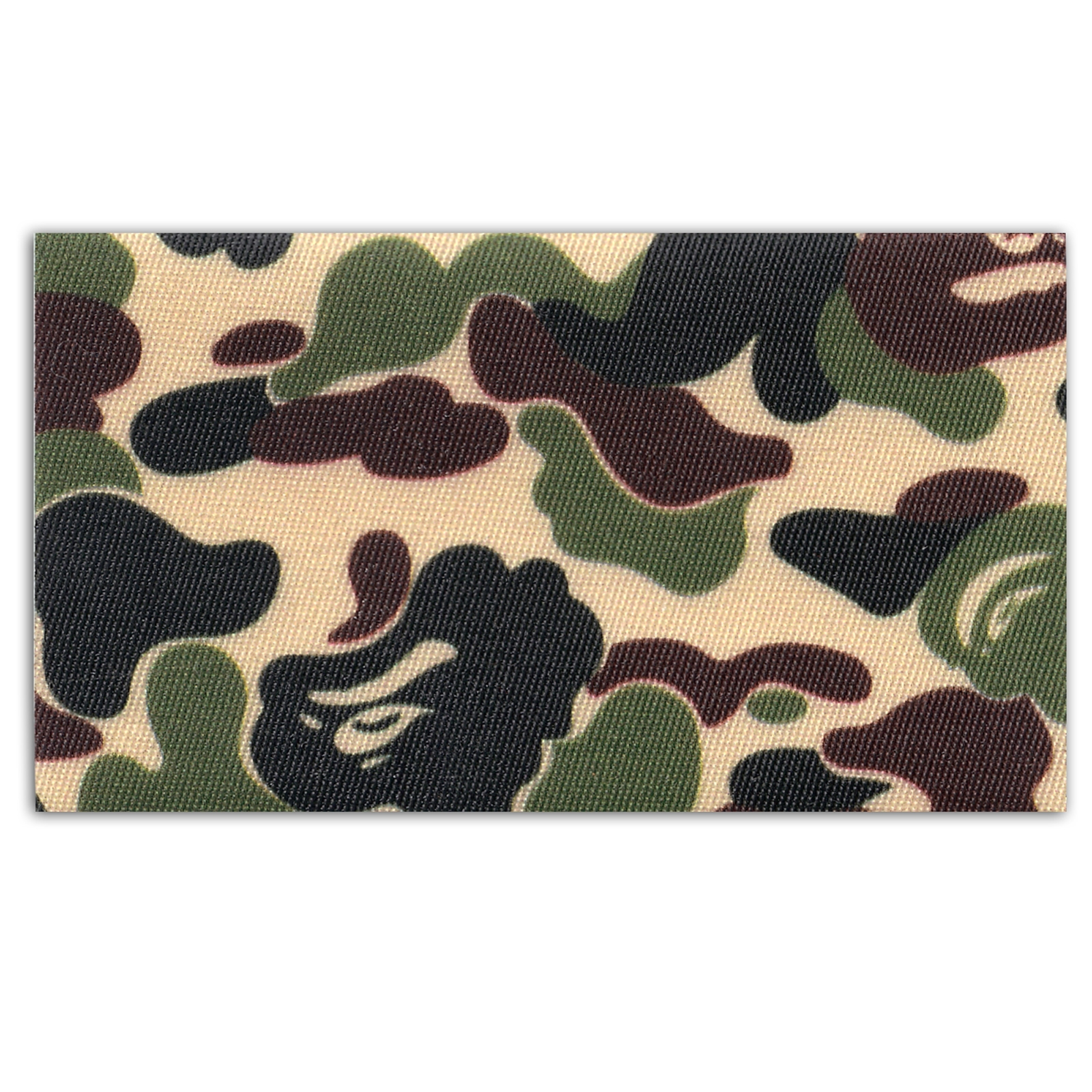 Ape Head Green Camouflage Pattern Box Print Iron On Patch