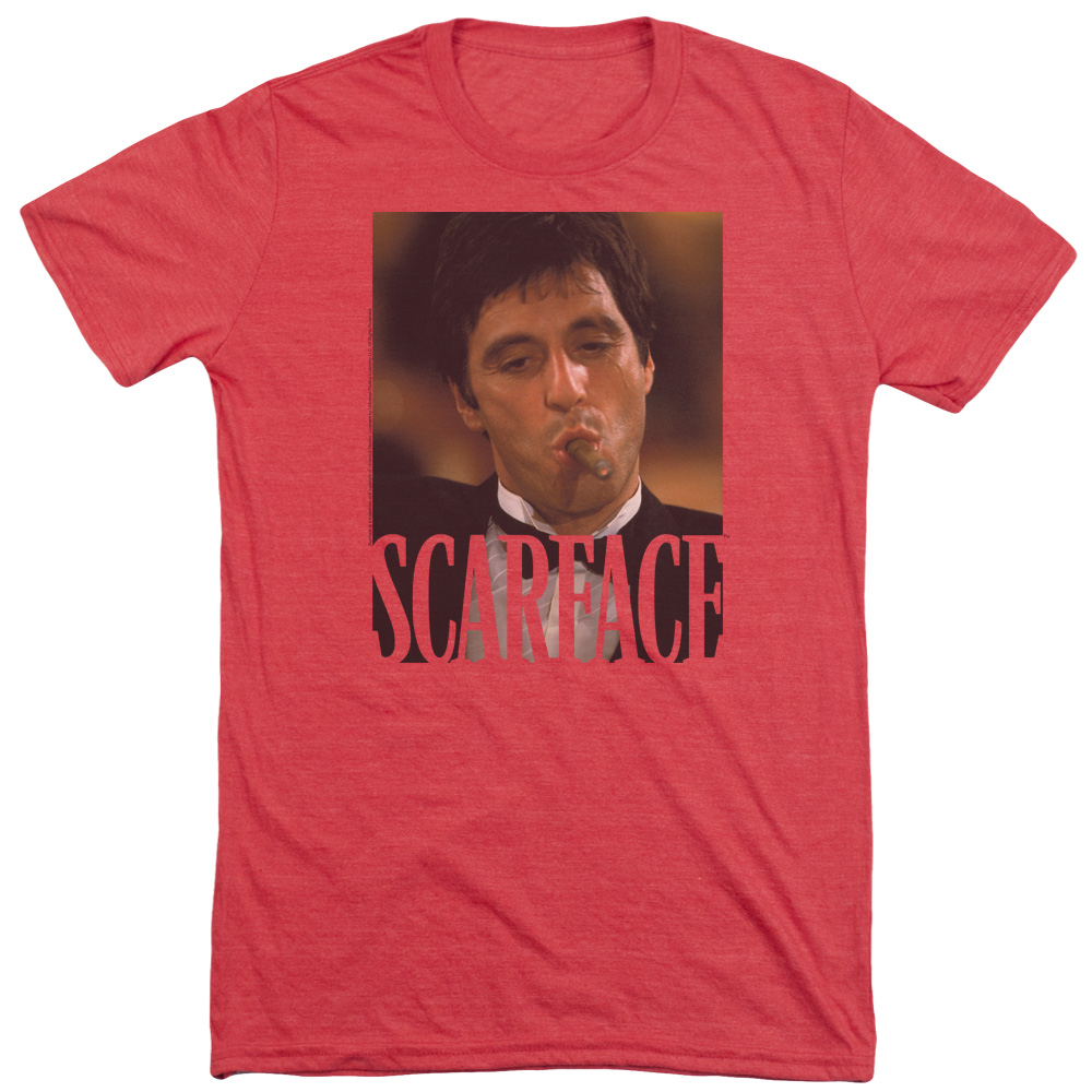 Scarface Smoking Cigar Mens Tri-Blend Short Sleeve Shirt
