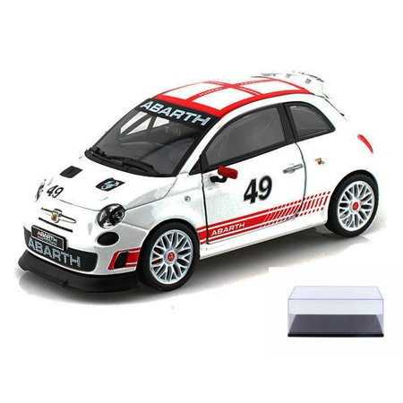Diecast Car Display Case Package Fiat Abarth 500 49 White