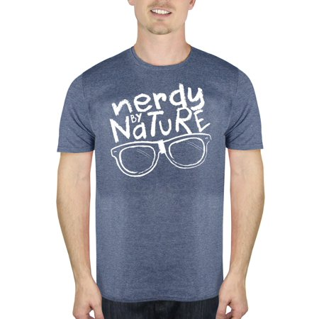 e5f5f8574 Humor - Nerdy By Nature Humor Men's Graphic T-Shirt, up to Size 2XL ...