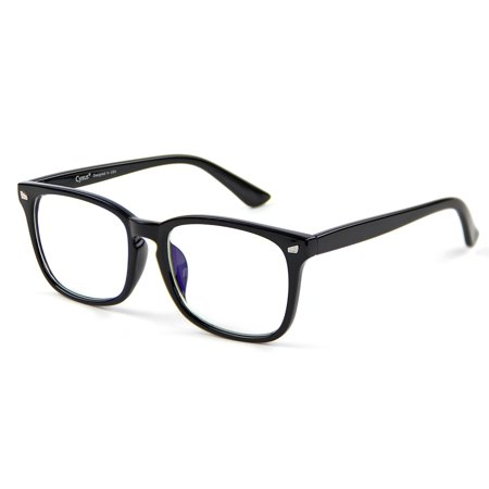 Cyxus Blue Light Blocking Computer Glasses for UV420 Protection Anti Eyestrain Headaches, Black Classic Frame Unisex(Men/Women) - Black Circle Glasses