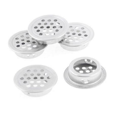 Round Shaped Metal Air Vent Ventilation Louver 25mm Dia Botton 5 Pcs