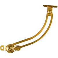 N208-652 Bright Brass Plated Finish Right Hand Lid Support