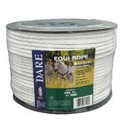 "Electric Fence Rope, White, Polyethylene With SS Wire, 5/64"" X 656', Dare, 3095"