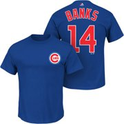 Ernie Banks Chicago Cubs Majestic Cooperstown Collection Name & Number T-Shirt - Royal Blue