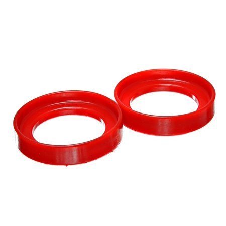 (Energy Suspension 96-00 Honda Civic/CRX / 99-00 Honda Civic Si Red Front Coil Spring Isolator Set)