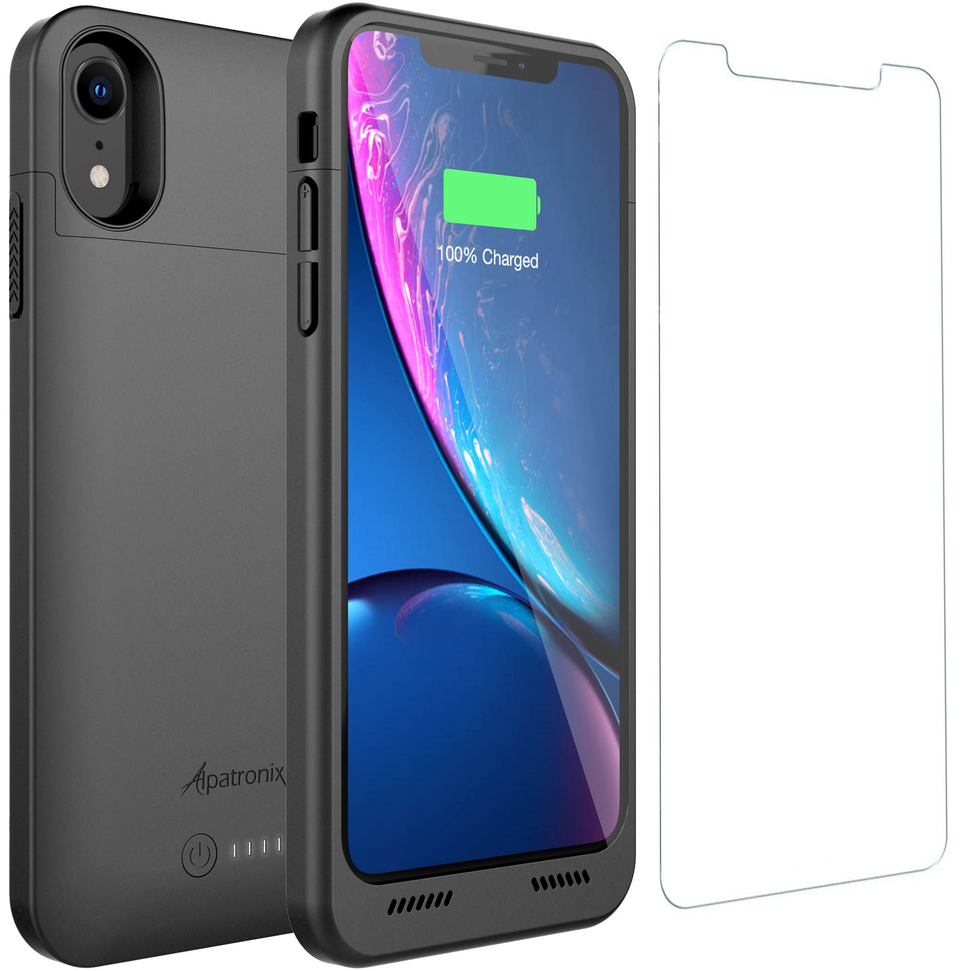 Alpatronix BXXrt 3500mAh Protective Battery Charger Case Compatible with Apple iPhone XR (6.1-inch) with Qi Wireless Charging