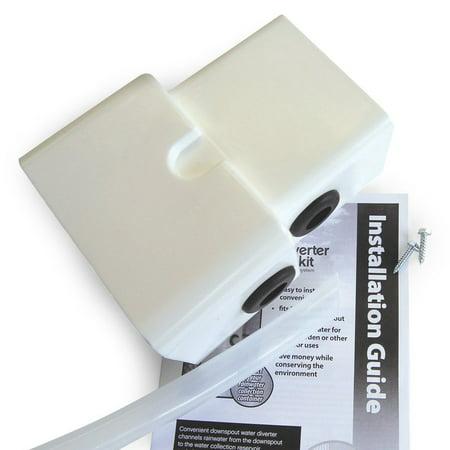 Emsco Group 2275 1 Rescue Dual Diverter Kit  White   Fits Both 2X3   3X4 Downspouts