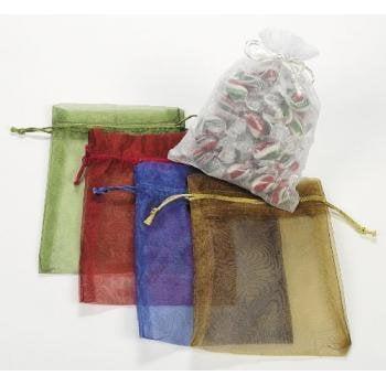 LARGE SHEER MESH DRAWSTRING GIFT BAGS (1 DOZEN) - BULK - Bulk Gift Bags