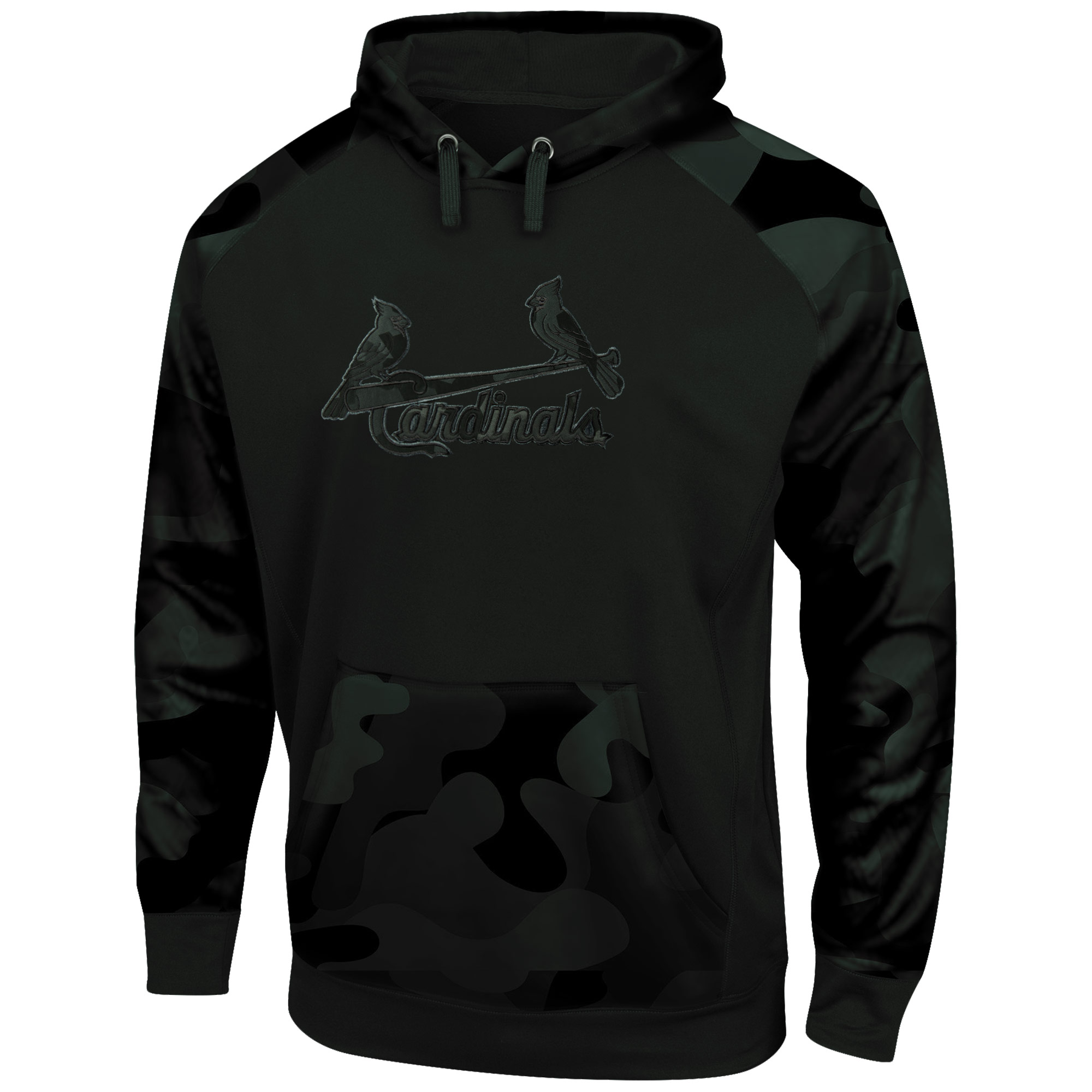St. Louis Cardinals Majestic Big & Tall Pullover Hoodie - Camo/Black