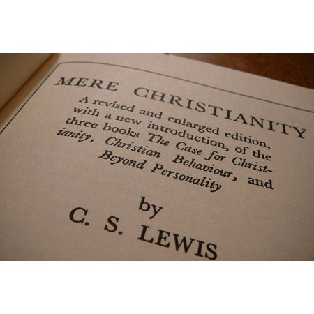 Canvas Print Mere Christianity Author Pages Cs Lewis Book Print Stretched Canvas 10 x 14 ()