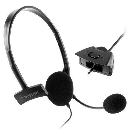 Insten 2Pcs Black Live Headphone Headset With Mic For Xbox 360 Wireless Controller