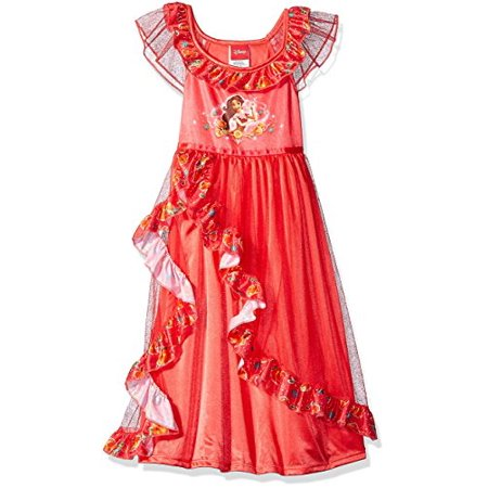 Disney Princess Nightgown (Disney Big Girls' Elena of Avalor Fantasy Nightgown, Elena Red, 8 )
