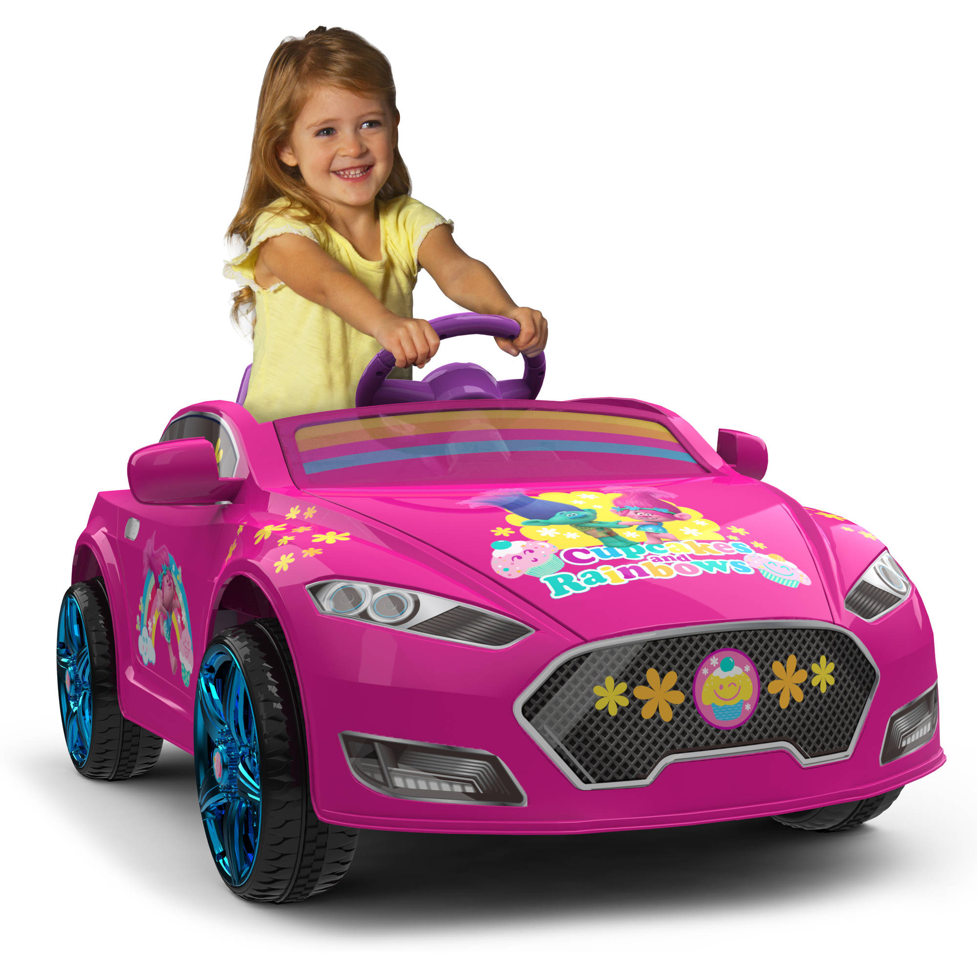 Trolls 6V Speed Electric Battery-Powered Coupe Ride-On