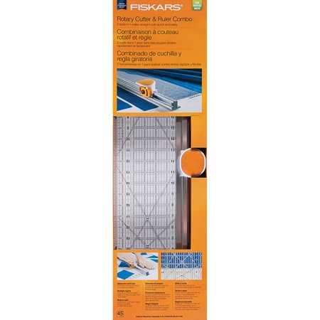 Fiskars Rotary Cutter and Ruler Combo, 1 Each