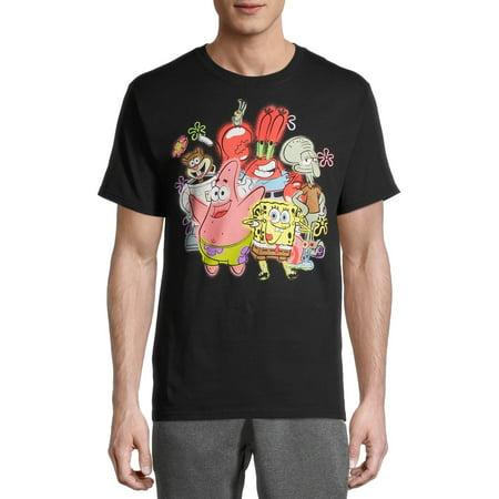 SpongeBob SquarePants Airbrushed Cast Men's and Big Men's Graphic T-Shirt