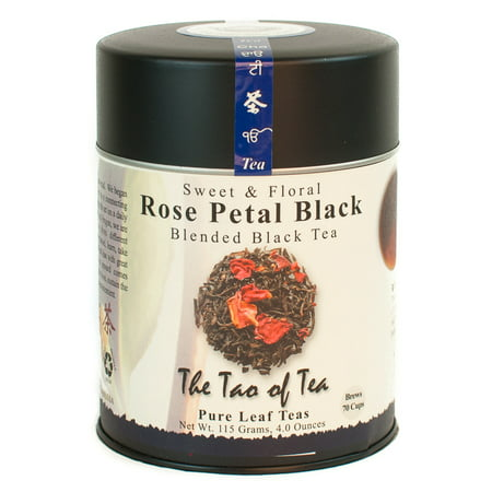 The Tao of Tea, Rose Petal Black Tea, Loose Leaf Tea, 4 Oz (Famille Rose Tea)