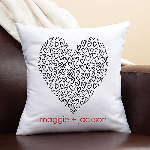 Personalized Robin Zingone Heart of Love Pillow