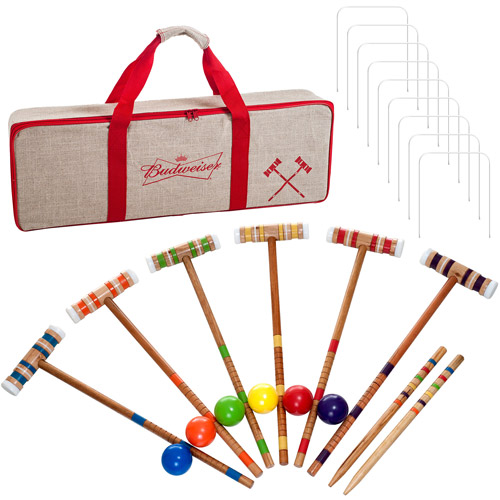 Budweiser 24-Piece 6-Player Croquet Set, Complete Game