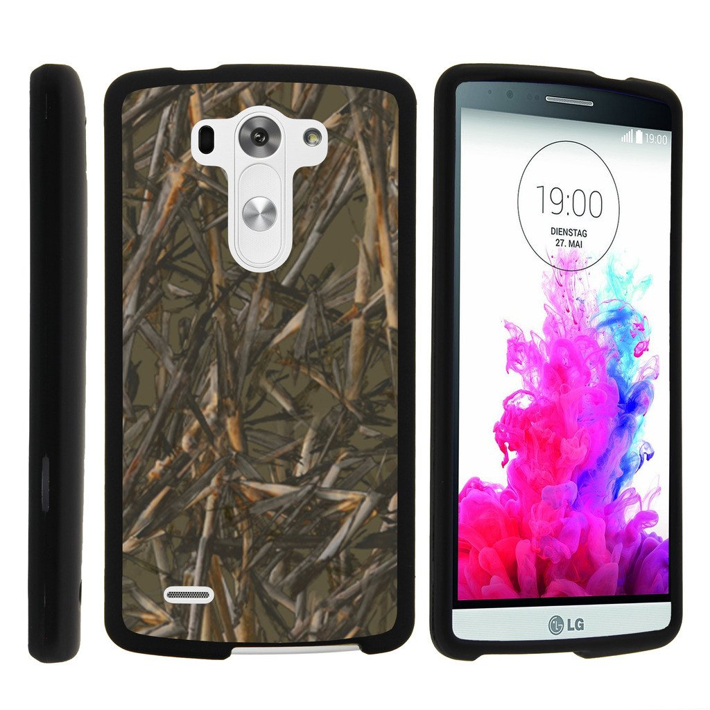 LG G3 D850, LS990, VS985, [SNAP SHELL][Matte Black] Snap On Hard Plastic Protector with Non Slip Coating with Unique Designs - Dry Wood Camouflage