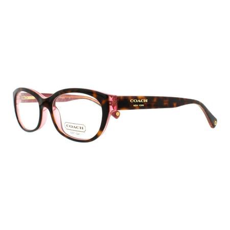 COACH Eyeglasses HC 6041 5115 Tortoise Pink 51MM - Walmart.com