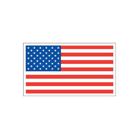 American Flag Rectangle Magnet, Made in the USA By Magnet America ()